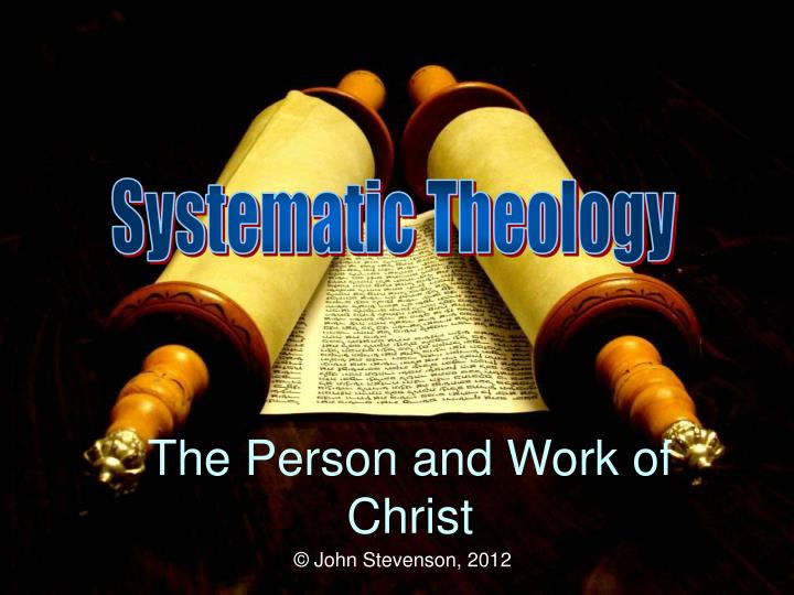 the person and work of christ n.