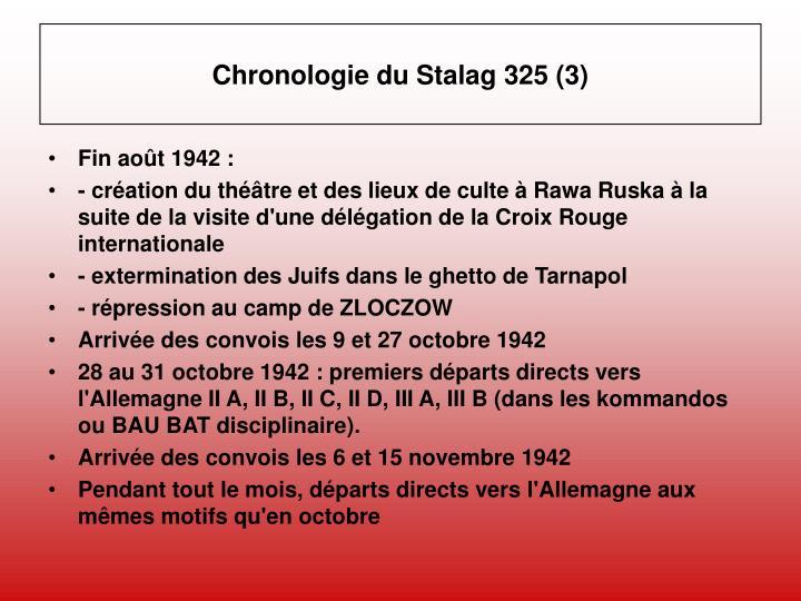 Chronologie du Stalag 325 (3)