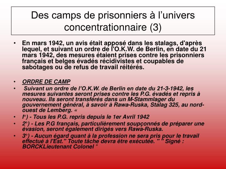 Des camps de prisonniers à l'univers concentrationnaire (3)