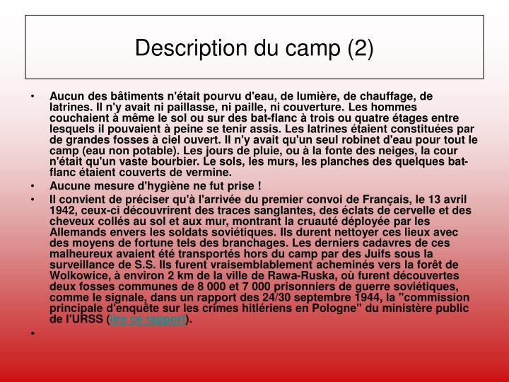 Description du camp (2)