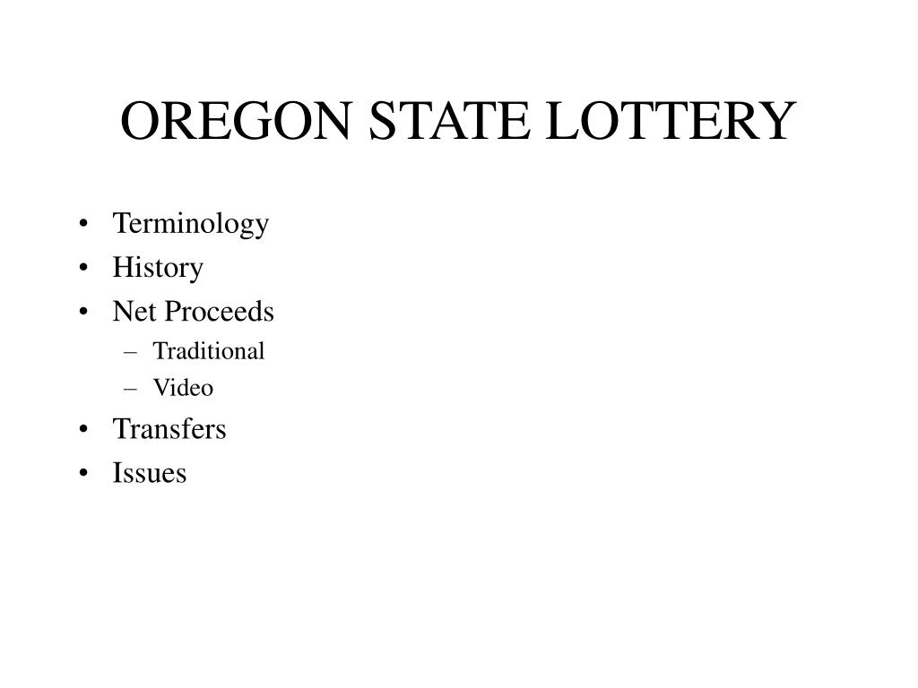 oregon state lottery l.