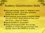 auditory discrimination skills