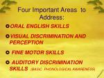 four important areas to address