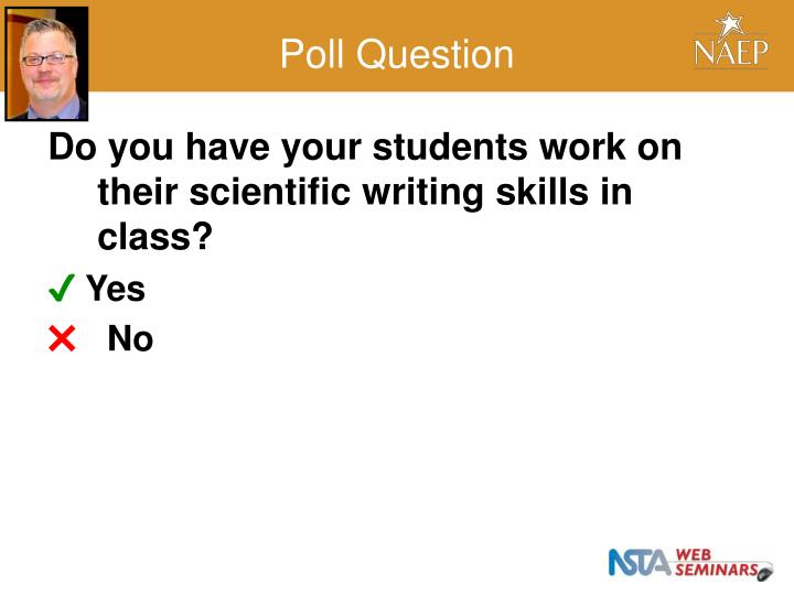 Do you have your students work on their scientific writing skills in class?
