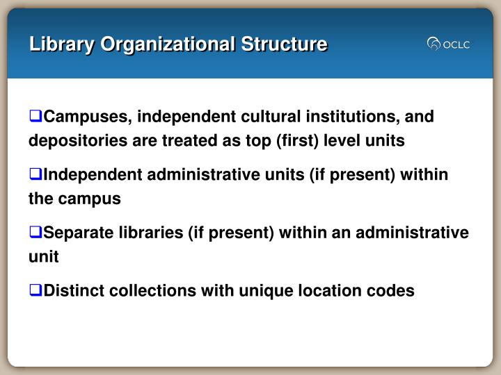 Library Organizational Structure