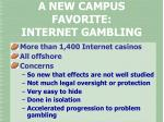 a new campus favorite internet gambling
