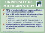university of michigan study