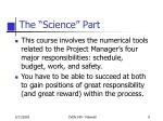 the science part