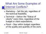 what are some examples of internal conflicts