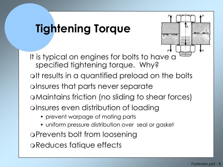 Tightening Torque