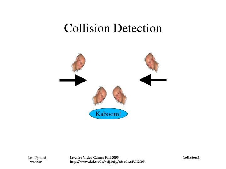 collision detection n.