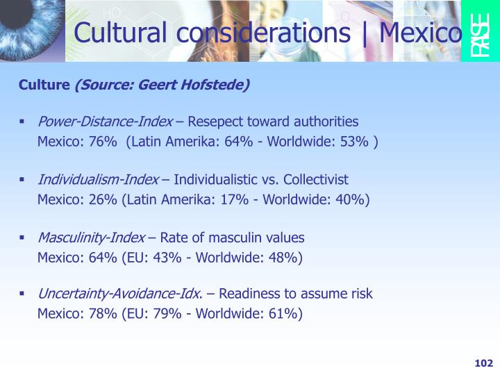 Cultural considerations   Mexico