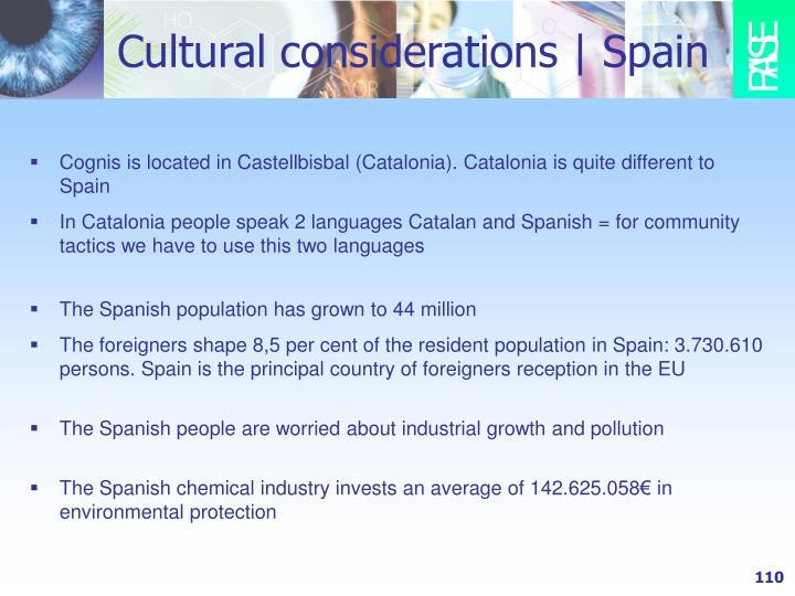 Cultural considerations   Spain