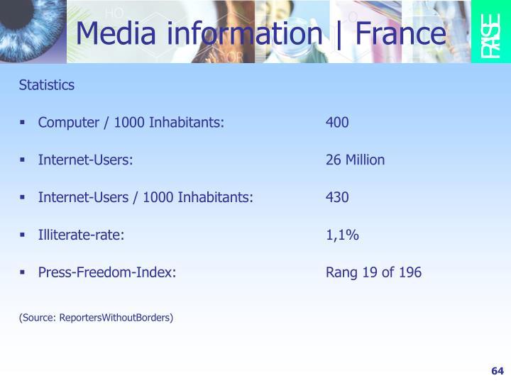 Media information   France