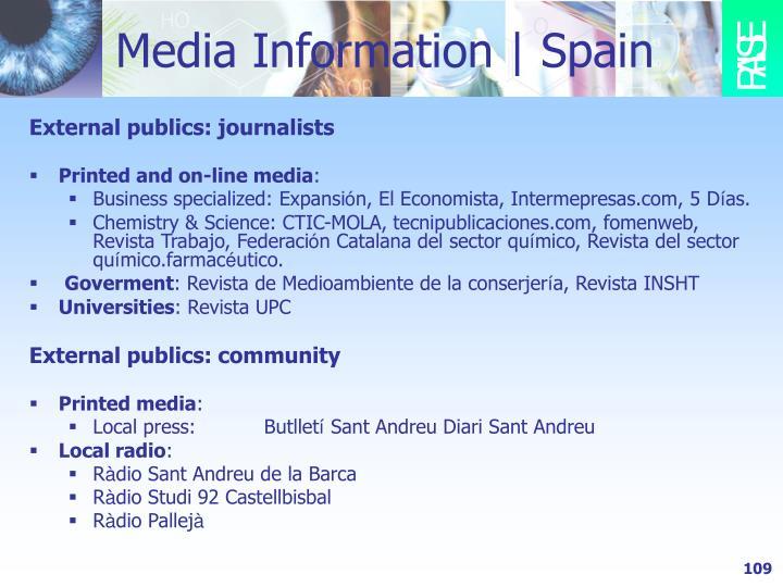Media Information   Spain