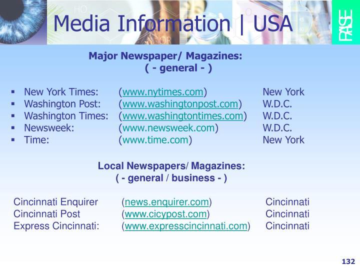 Media Information   USA