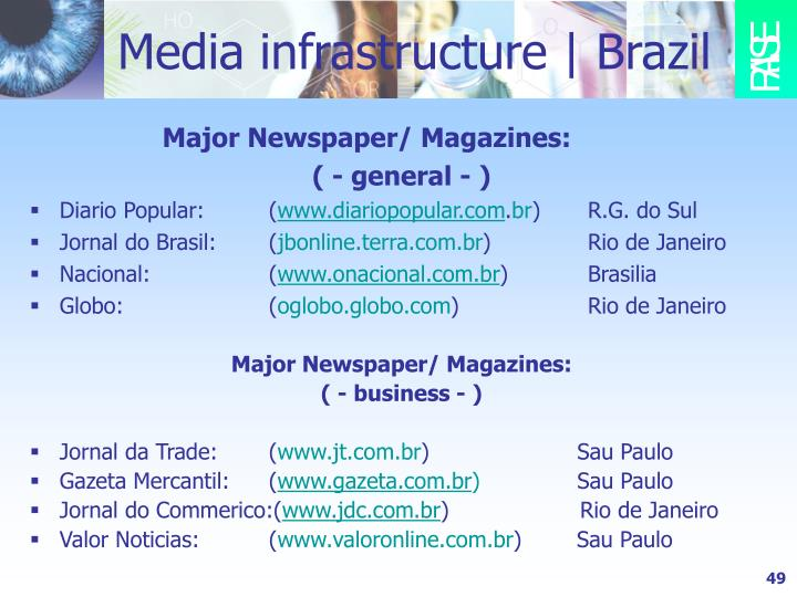 Media infrastructure   Brazil