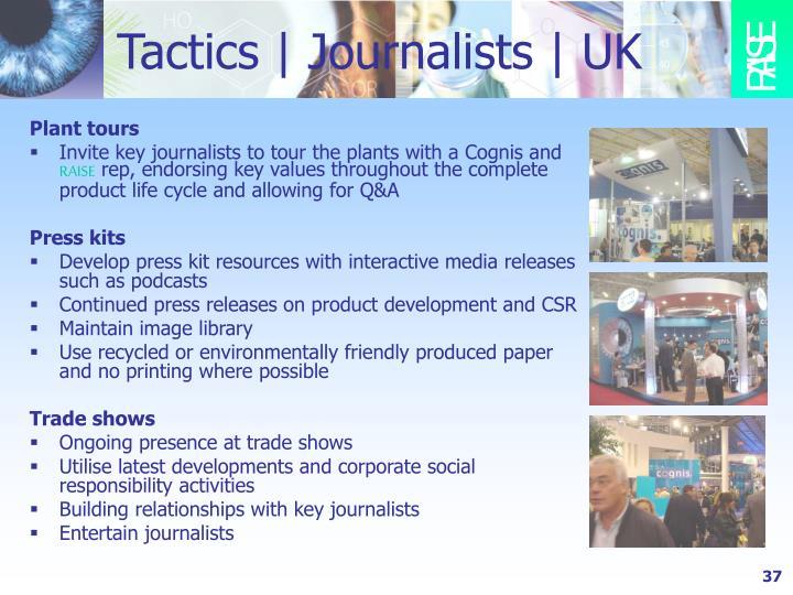 Tactics   Journalists   UK