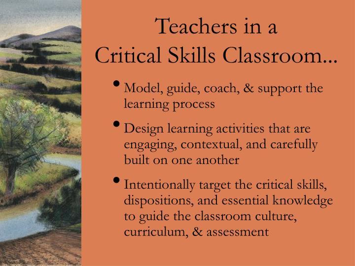 Teachers in a
