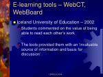 e learning tools webct webboard