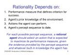 rationality depends on