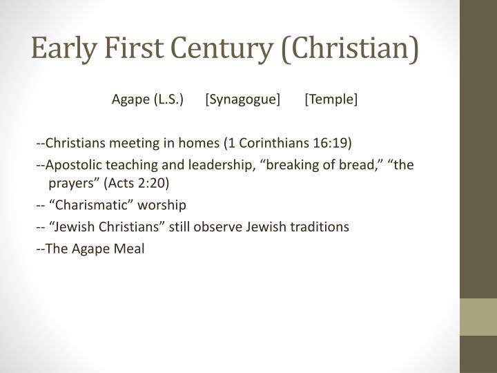 Early First Century (Christian)