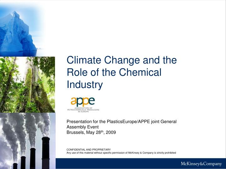 PPT - Climate Change and the Role of the Chemical Industry