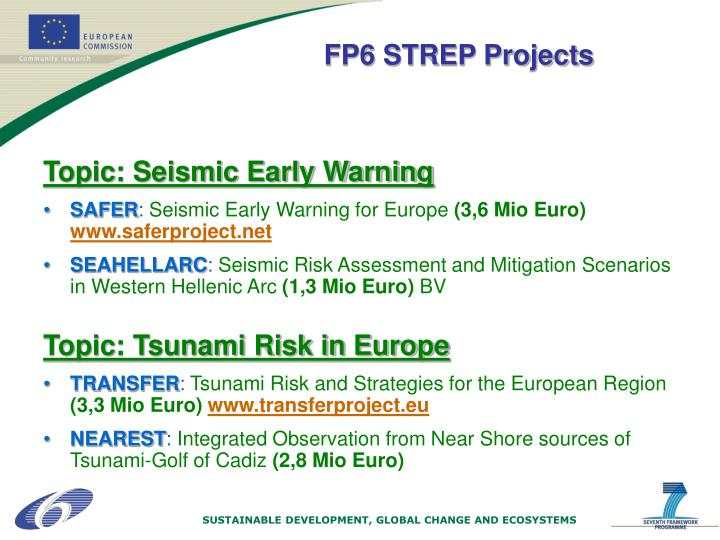 Topic: Seismic Early Warning