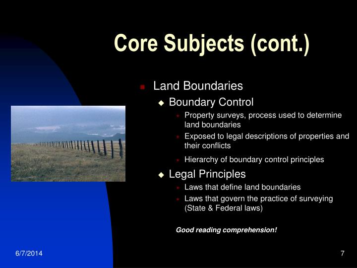Core Subjects (cont.)