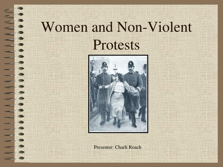 women and non violent protests n.