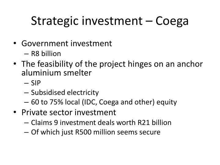Strategic investment – Coega