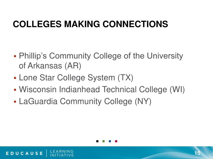 Colleges Making Connections