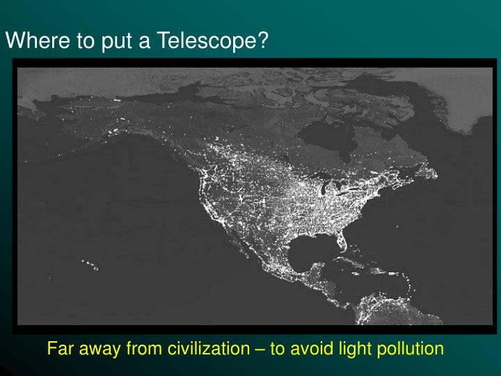 Where to put a Telescope?