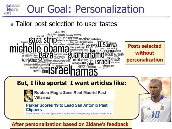 Our Goal: Personalization