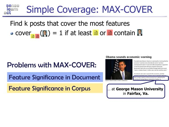Simple Coverage: MAX-COVER