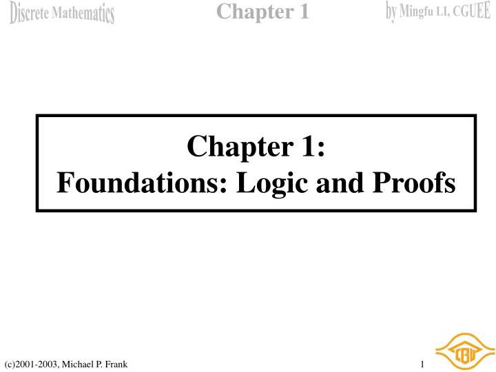 chapter 1 foundations logic and proofs n.