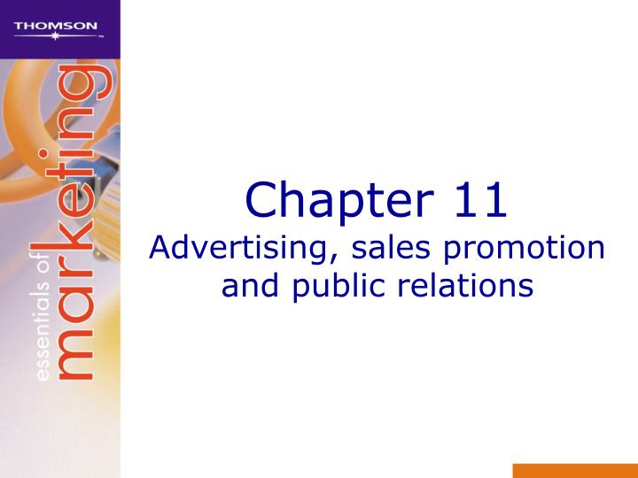 chapter 11 advertising sales promotion and public relations n.