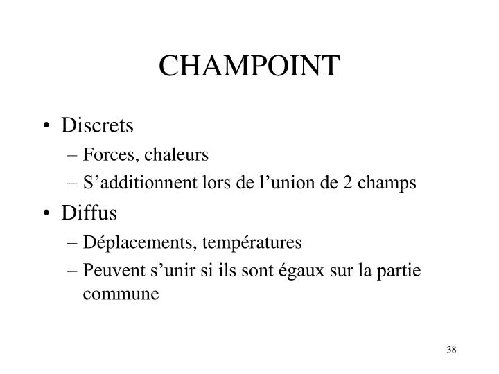 CHAMPOINT