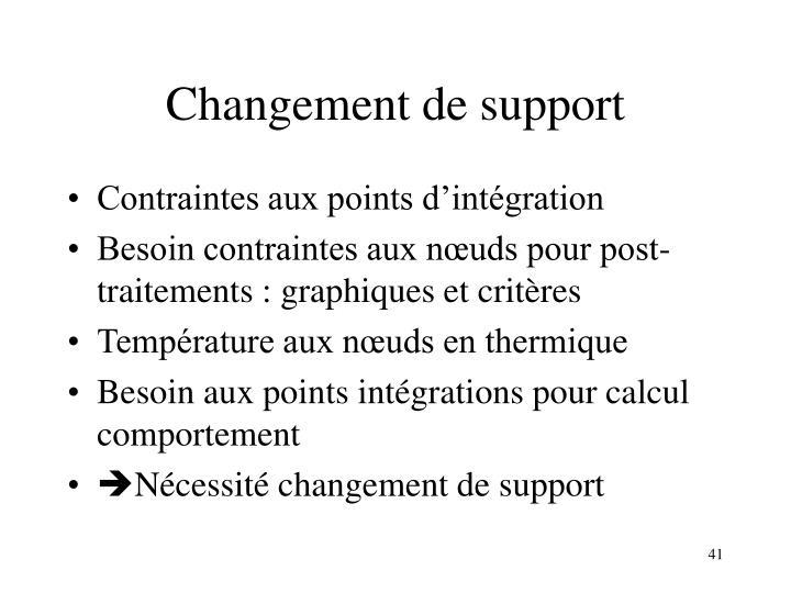 Changement de support