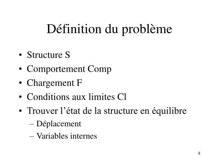 Définition du problème