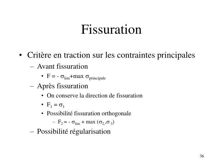 Fissuration