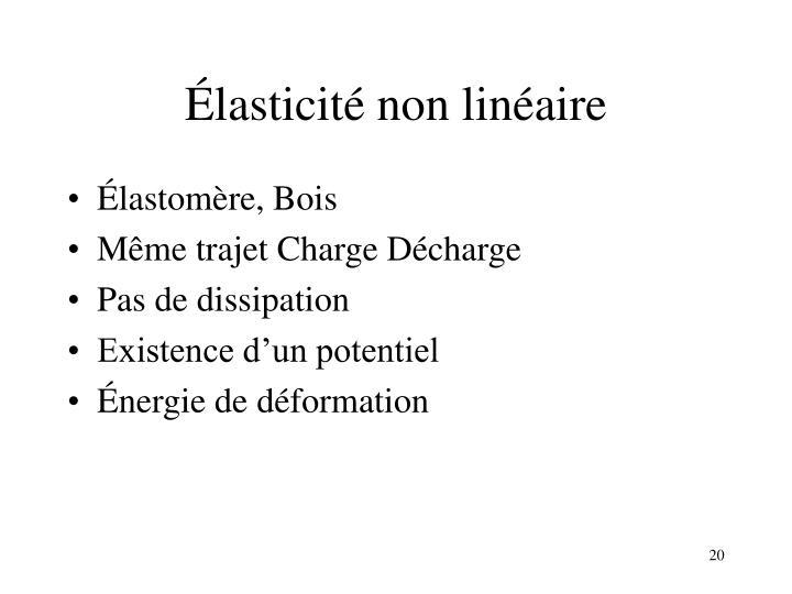 Élasticité non linéaire