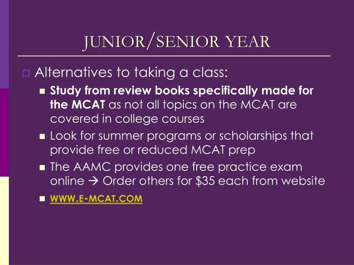 junior/senior year