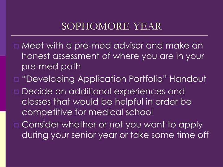 sophomore year