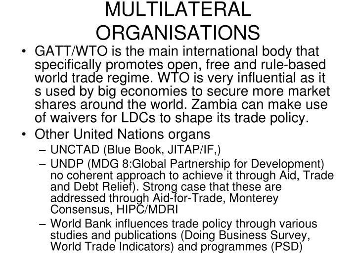 MULTILATERAL ORGANISATIONS