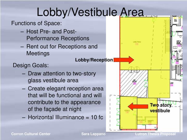 Lobby/Vestibule Area