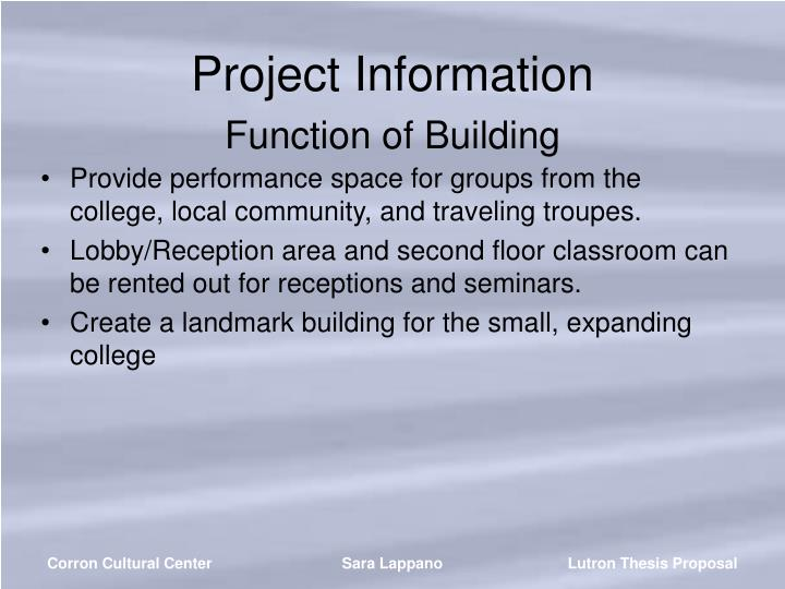 Project Information