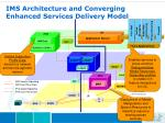 ims architecture and converging enhanced services delivery model