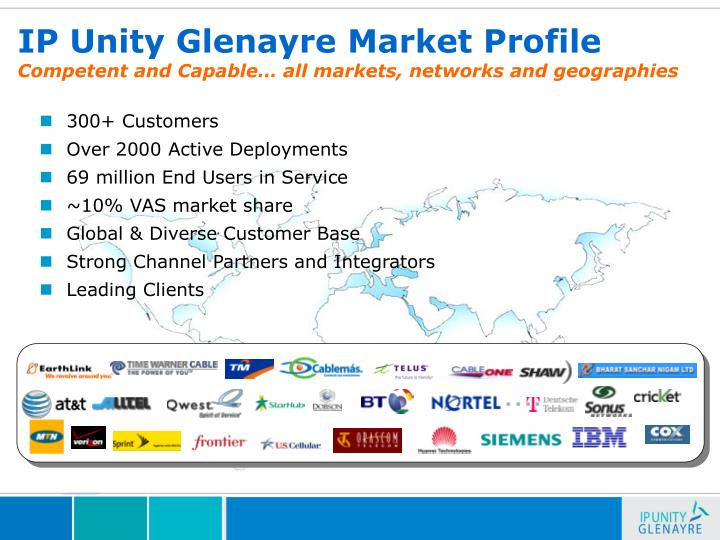 Ip unity glenayre market profile competent and capable all markets networks and geographies