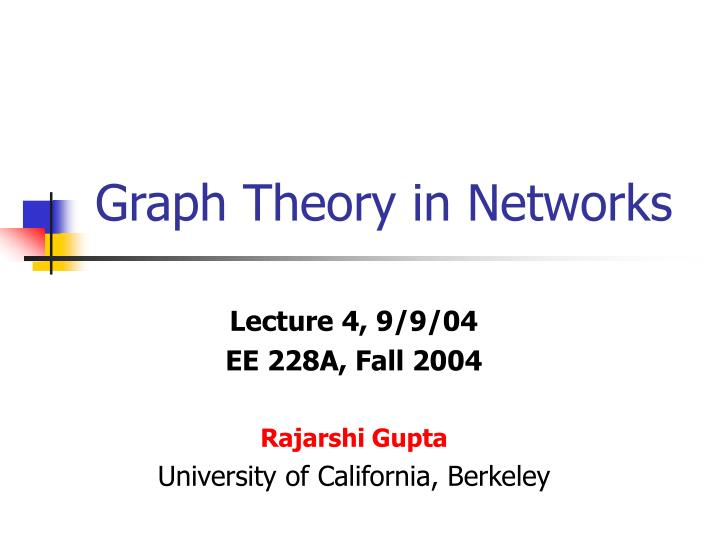 graph theory small networks Math 4673/5673 (officially: graph theory i) announcements: none instructor kimball martin 924 physical sciences center (405) 325-3537 kmartin@mathouedu home chapter 1 -- basic graph theory (updated 3/23) chapter 2 -- an overview of social networks (updated 4/3.